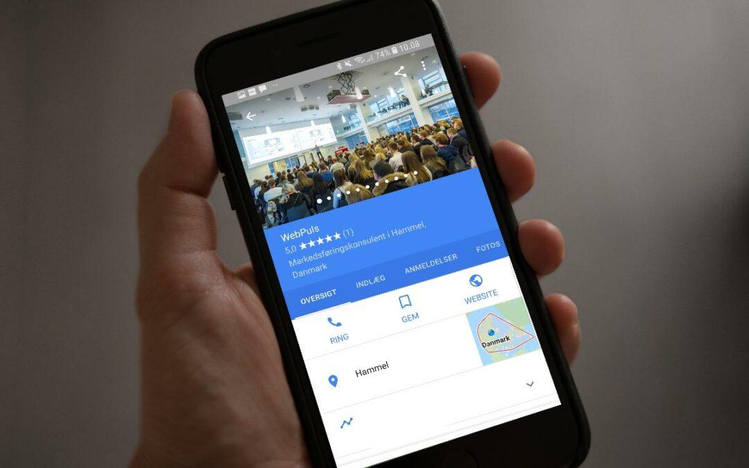 Problem med søgning på firmanavn og visning af Google MyBusiness profilen (GMB)?