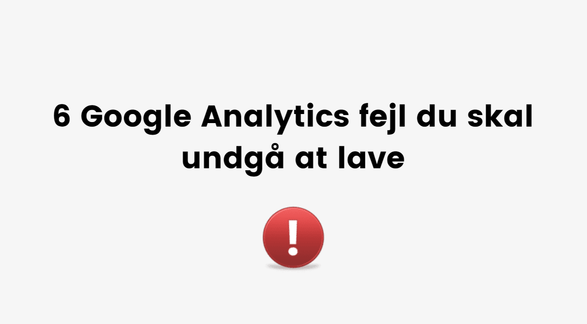 Google Analytics hjælp