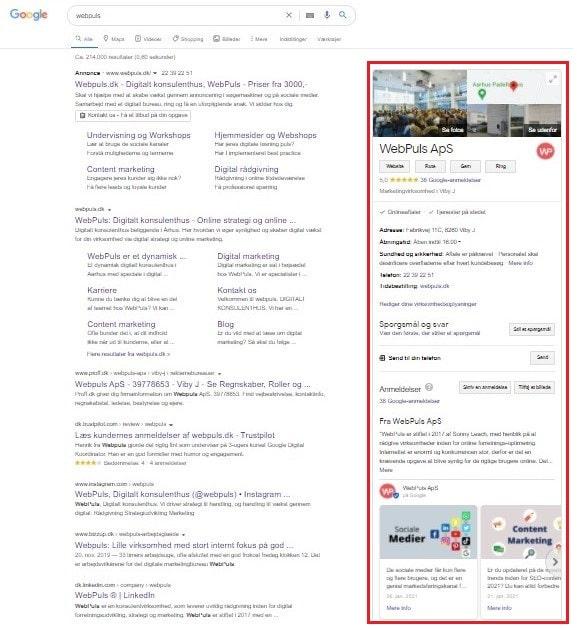 WebPuls Google My Business